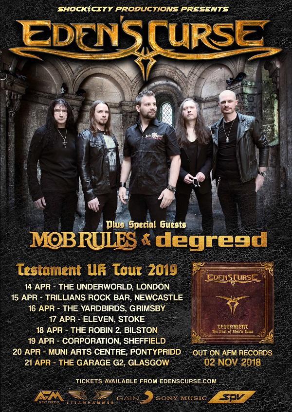 Poster for Eden's Curse 2019 UK tour