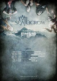 Poster for Evil Scarecrow Lost In Antartartica tour