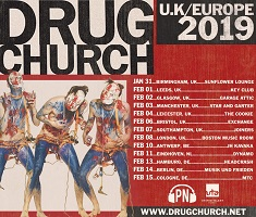 Poster for Drug Church 2019 European tour