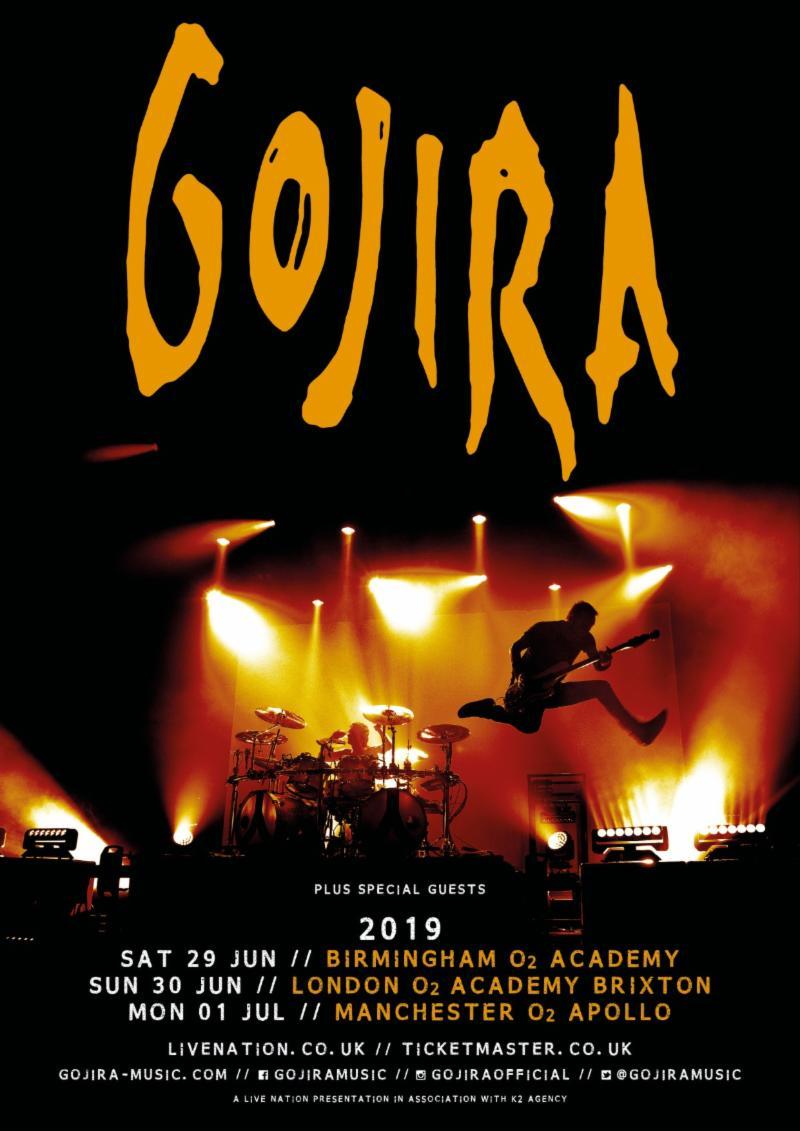 Gojira tour poster