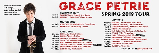 Poster for Grace Petrie 2019 tour
