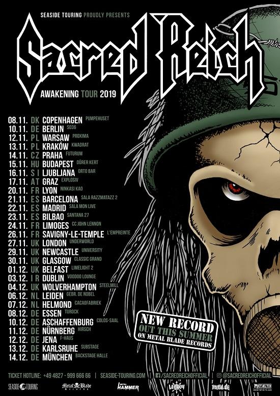 SacredReich EU tour 2019 poster