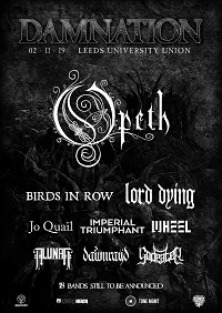 Poster for Opeth at Damnation fesitval 2019