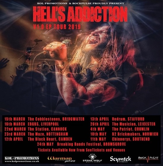 Hells Addiction 2019 tour poster