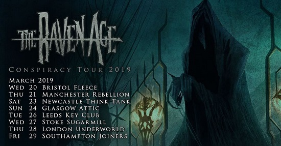 Poster for The Raven Age's 2019 tour