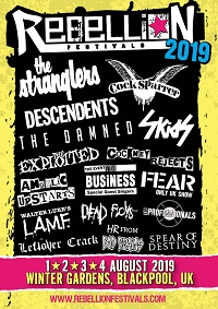 Poster for 2019 Rebellion festival
