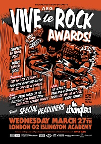 Poster for 2019 Vive Le Rock Awards