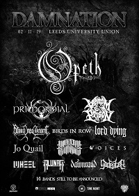 Updated poster for 2019 Damnation Festival
