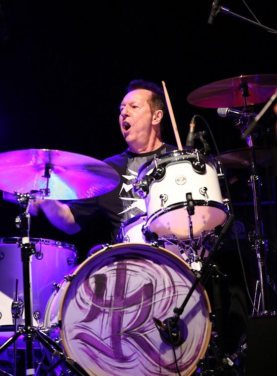 Herman Rarebell playing the Drum Legends show, Brighton