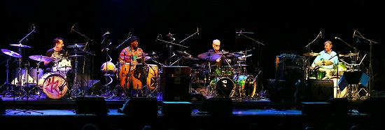 Drum Legends Ginger Baker, Herman Rarebell and Pete York at the Brighton Dome