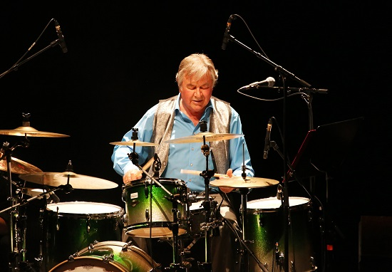 Pete York playing the Drum Legends show, Brighton