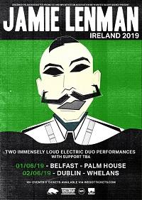 Poster for Jamie Lenman Ireland tour dates