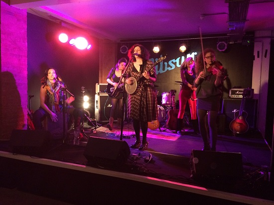 Dana Immanuel & The Stolen Band performing at the launch of the 2019 Maverick Festival at the Gibson Guitar Rooms