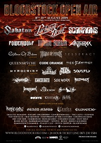 Updated poster for Bloodstock 2019