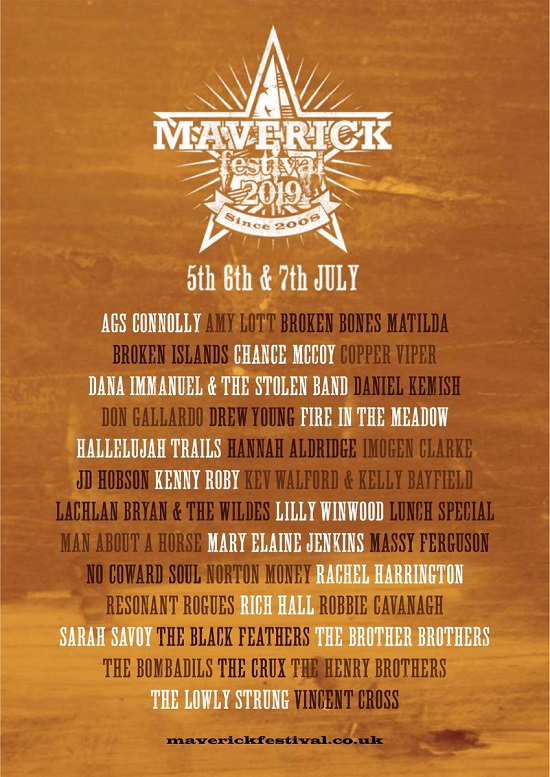 Poster for 2019 Maverick Festival