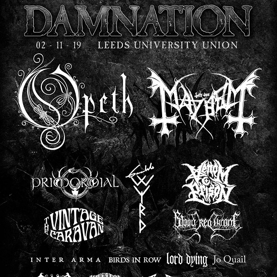 Updated poster for Damnation Festival 2019