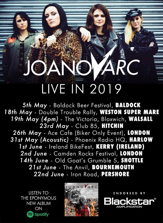Poster for JOANovARC April/May 2019 tour