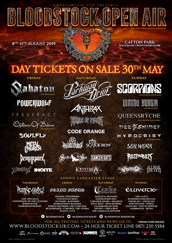 Bloodstock 2019 Poster - Updated 14 May