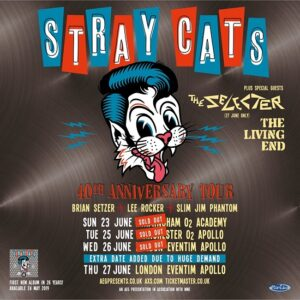 Stray Cats 2019 tour poster
