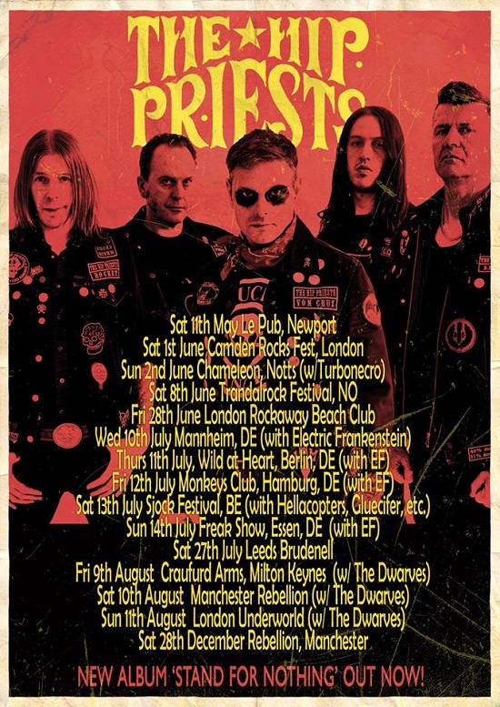 The Hip Priests tour poster