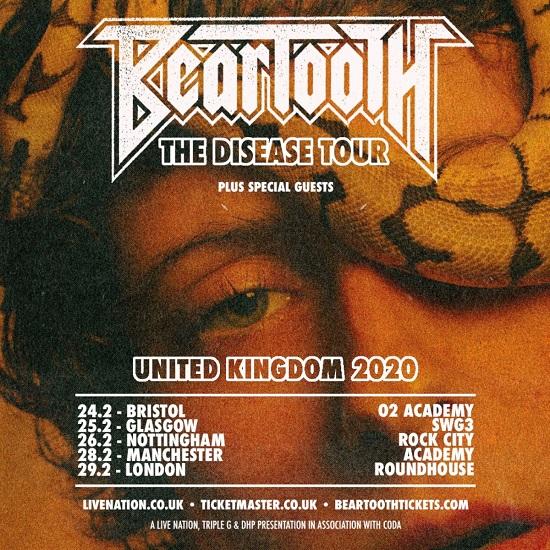 Beartooth 2020 tour poster