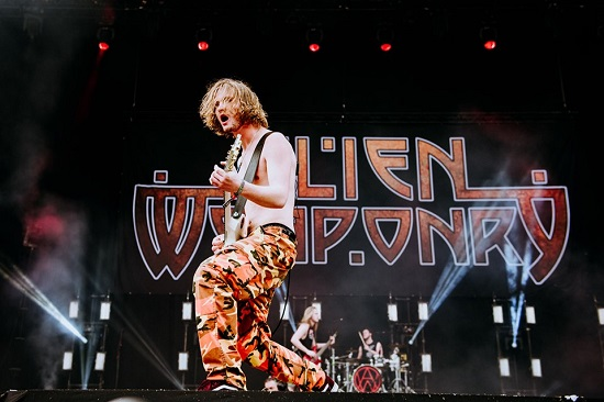 Alien Weaponry at Download 2019.