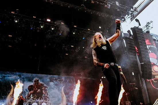 Amon Amarth at Download 2019. Photo courtesy of Download.