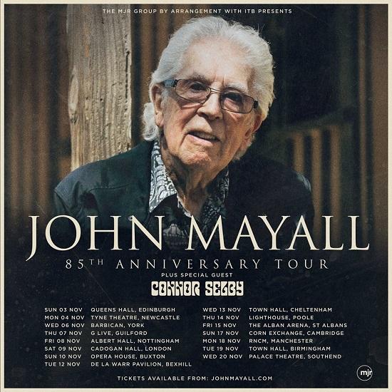 Poster for John Mayall 2019 tour