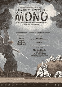 Poster for MONO Beyond The Past anniversary shows