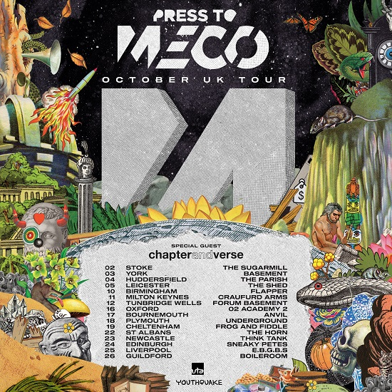Poster for Press to MECO October 2019 tour
