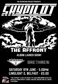 Poster for Skypilot 'The Affront' album launch show