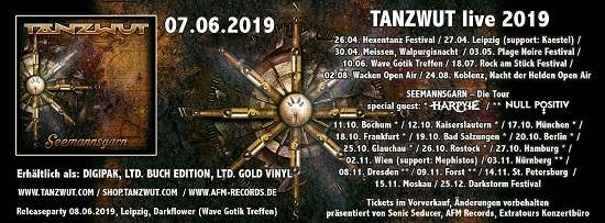 Poster for Tanzwut 2019 tour