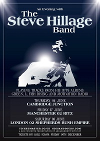 Steve Hillage Band – Shepherd's Bush O2 Empire – 8 June 19