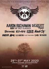Poster for first Call Of The Wild festival 2020 announcement