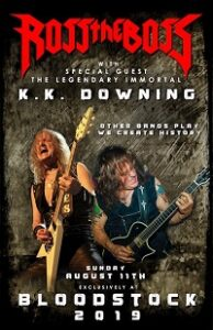 Poster for KK Downing and Ross The Boss at Bloodstock 2019
