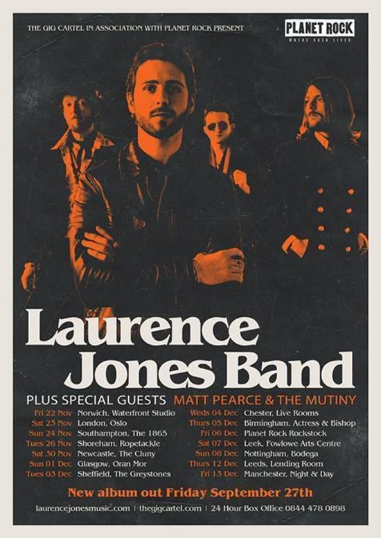 Poster for Laurence Jones Band 2019 UK tour