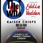 The Who/Eddie Vedder – Wembley Stadium – 6 July 19