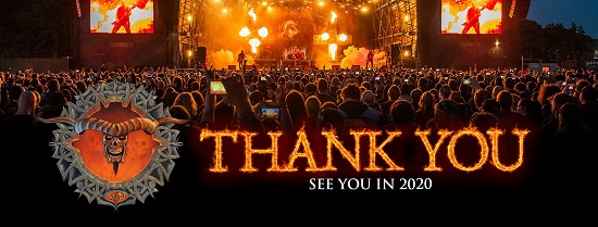 Bloodstock 2019 Thank You banner