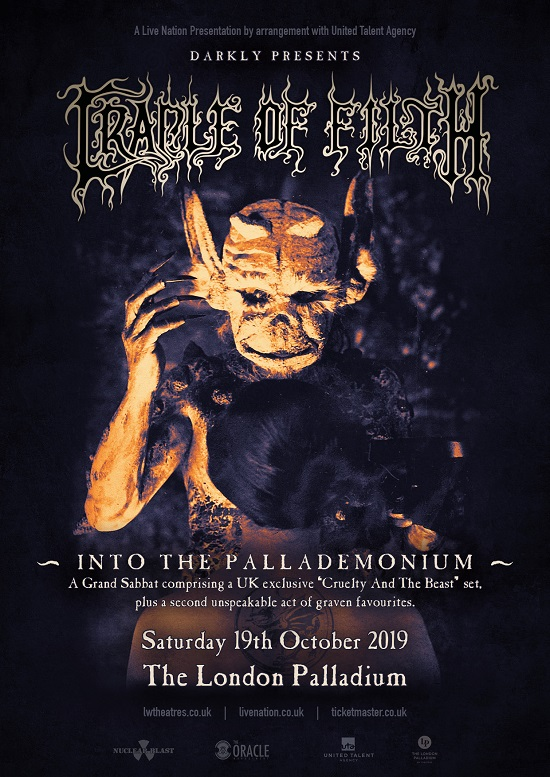 Poster for Cradle Of Filth at London Palladium