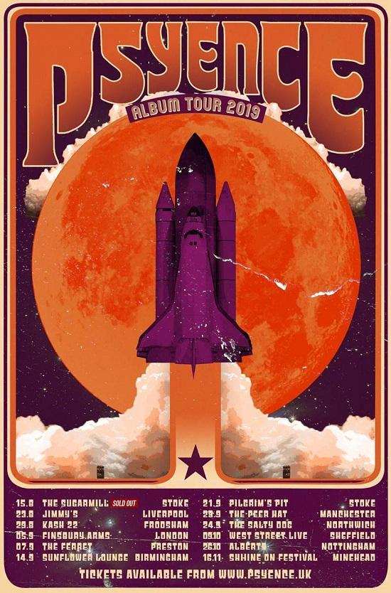 Psyence 2019 tour poster
