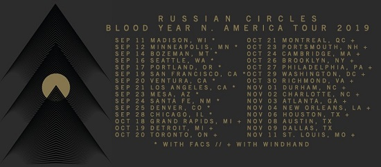 Poster for Russian Circles 2019 North American tour