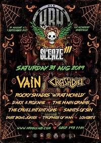 Poster for the Saturday of HRH Sleaze 2019