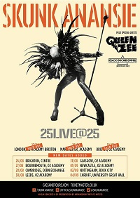 Poster for Skunk Anansie 25Live@25 tour
