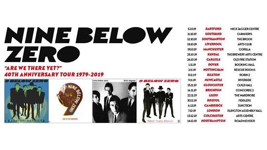 Poster for Nine Below Zero 40th anniversary tour