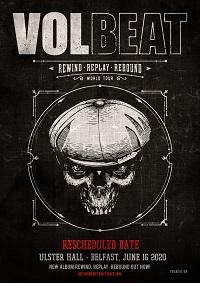 GIG NEWS: Volbeat announce rescheduled Belfast show