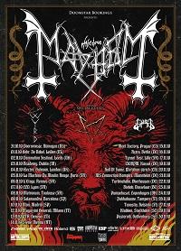 Poster for Mayhem 2019 European tour