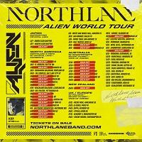 Poster for Northlane 2019 'Alien' tour