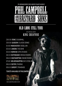 Phil Campbell and the Bastard Sons/King Creature – Southampton, Engine Rooms – 6 November 2019