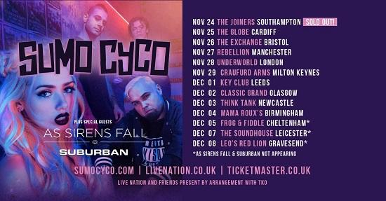 Sumo Cyco 2019 tour header