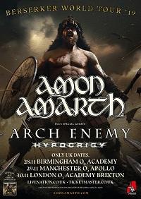 Amon Amarth 2019 tour poster